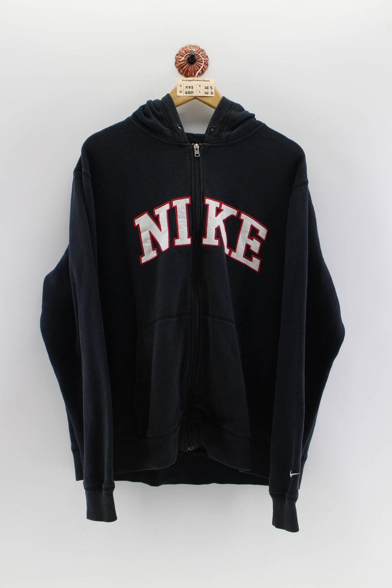 ff2bc8f58b06 Vintage NIKE SpellOut Pullover Hoodie Unisex Xlarge 90s Nike
