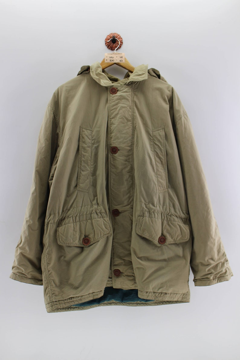 b27092307a69b Vintage UNITED COLORS of BENETTON Parka Jacket Oversize Men