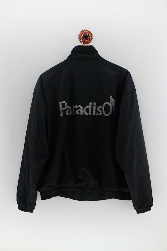 PARADISO Light Jacket Medium Women Vintage Surfing Hang Ten Usa Pipeline Aloha Surfer Gray Windbreaker Size M
