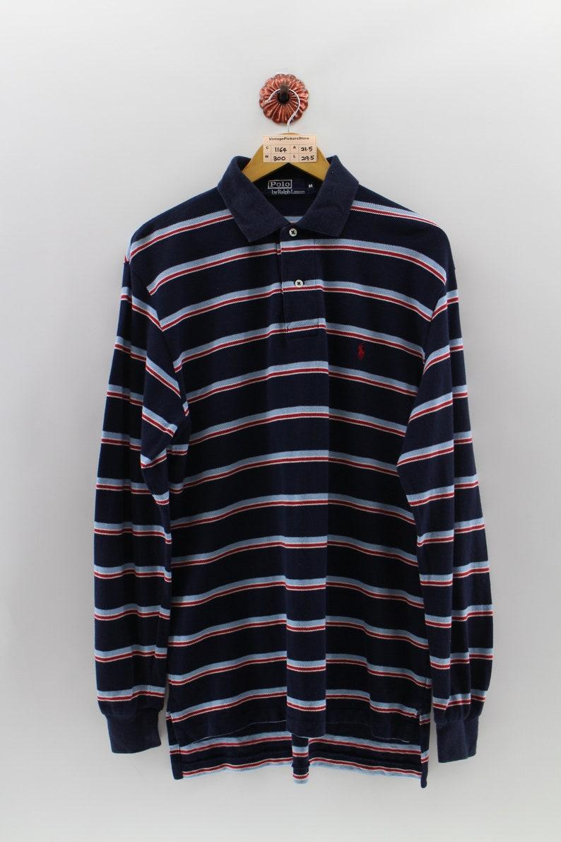26828020 POLO RALPH LAUREN Polo Shirt Men Medium Vintage Polo Small Red | Etsy