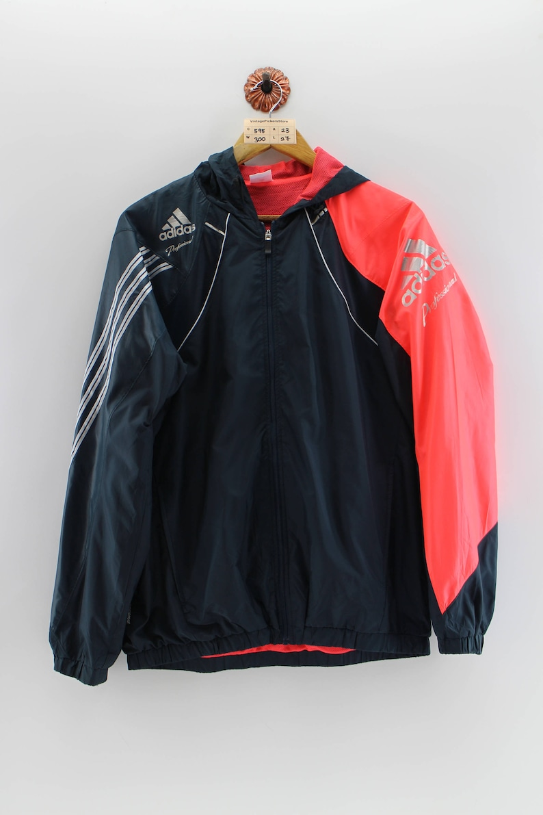 9183fb76 ADIDAS EQUIPMENT Windbreaker Jacket Unisex Large Vintage 90's Adidas  Sportwear Trainer Hoodie Adidas Black Outfit Light Jacket Unisex Size L