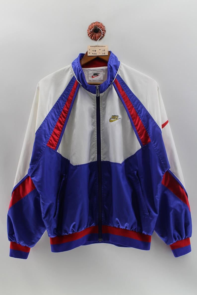 e175ed14fa09 Vintage NIKE SWOOSH Windbreaker Jacket Large 90 s Nike
