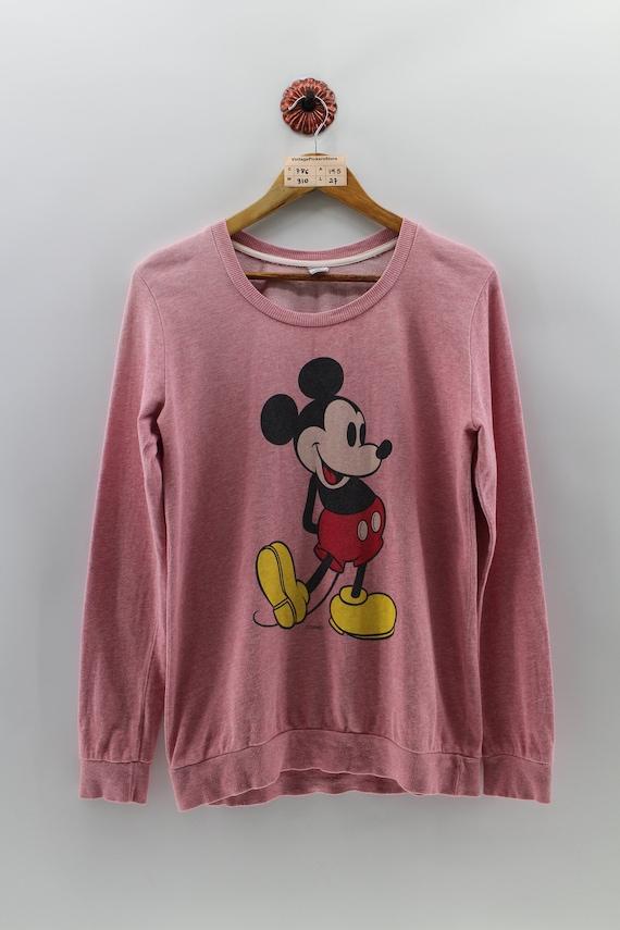 9ab9bbb8a Vintage WALT DISNEY MICKEY Pullover Sweatshirt Women Medium