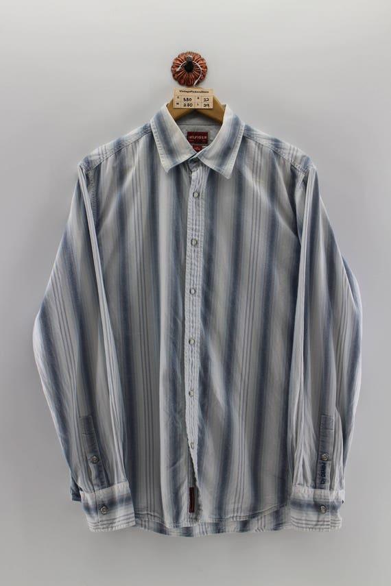 b2f127d12 Vintage TOMMY HILFIGER Denim Western Shirt Unisex Medium