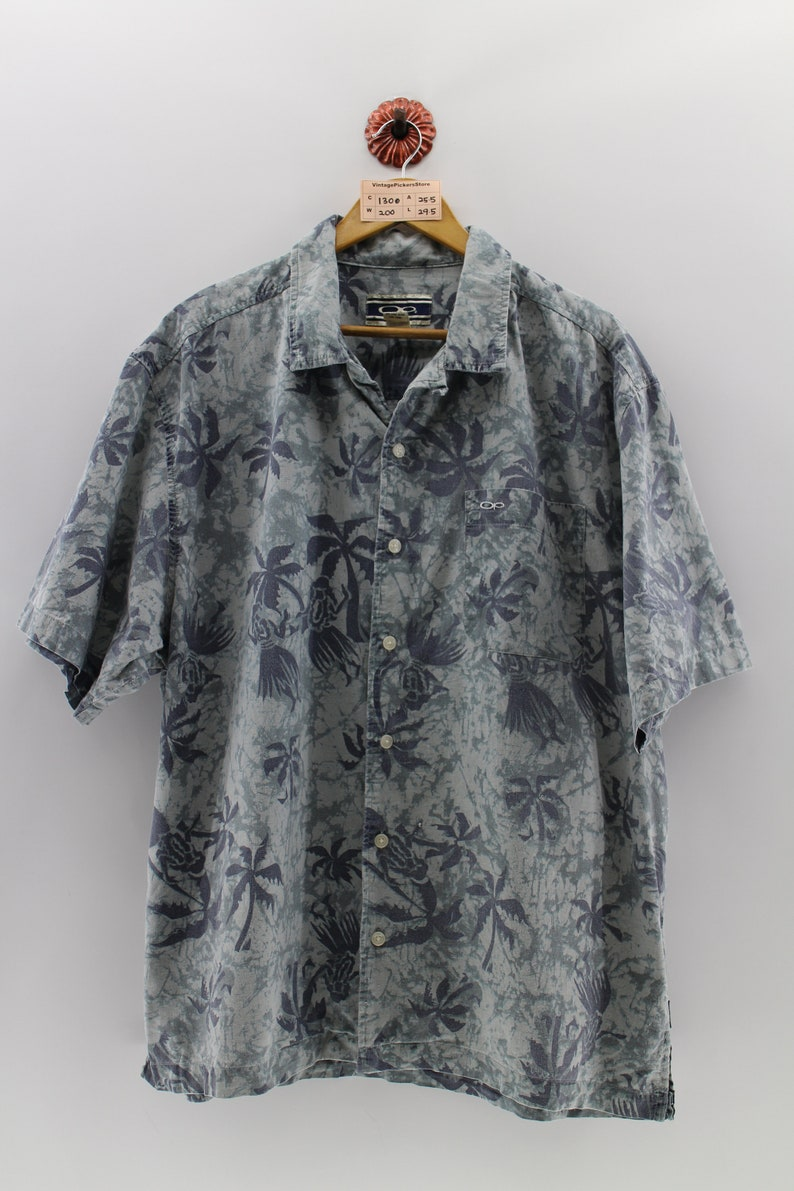 0a3afbb3f OCEAN PACIFIC Hawaiian Cotton Shirt Large Vintage OP Surf | Etsy