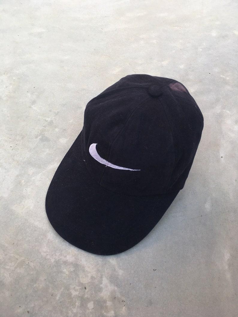 1b534f6d1 NIKE SWOOSH Cap Vintage 90's Nike Sportswear Cap Snapback Nike Air Jordan  Nike Big Logo Apparel Adjustable Nike HeadWear Baseball Blue Cap