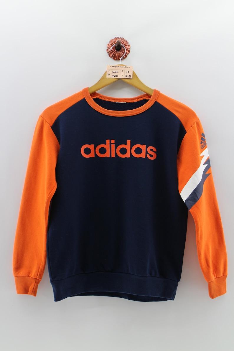 12625dca6269 Vintage ADIDAS Sweatshirt Small Youth 90 s Adidas Three