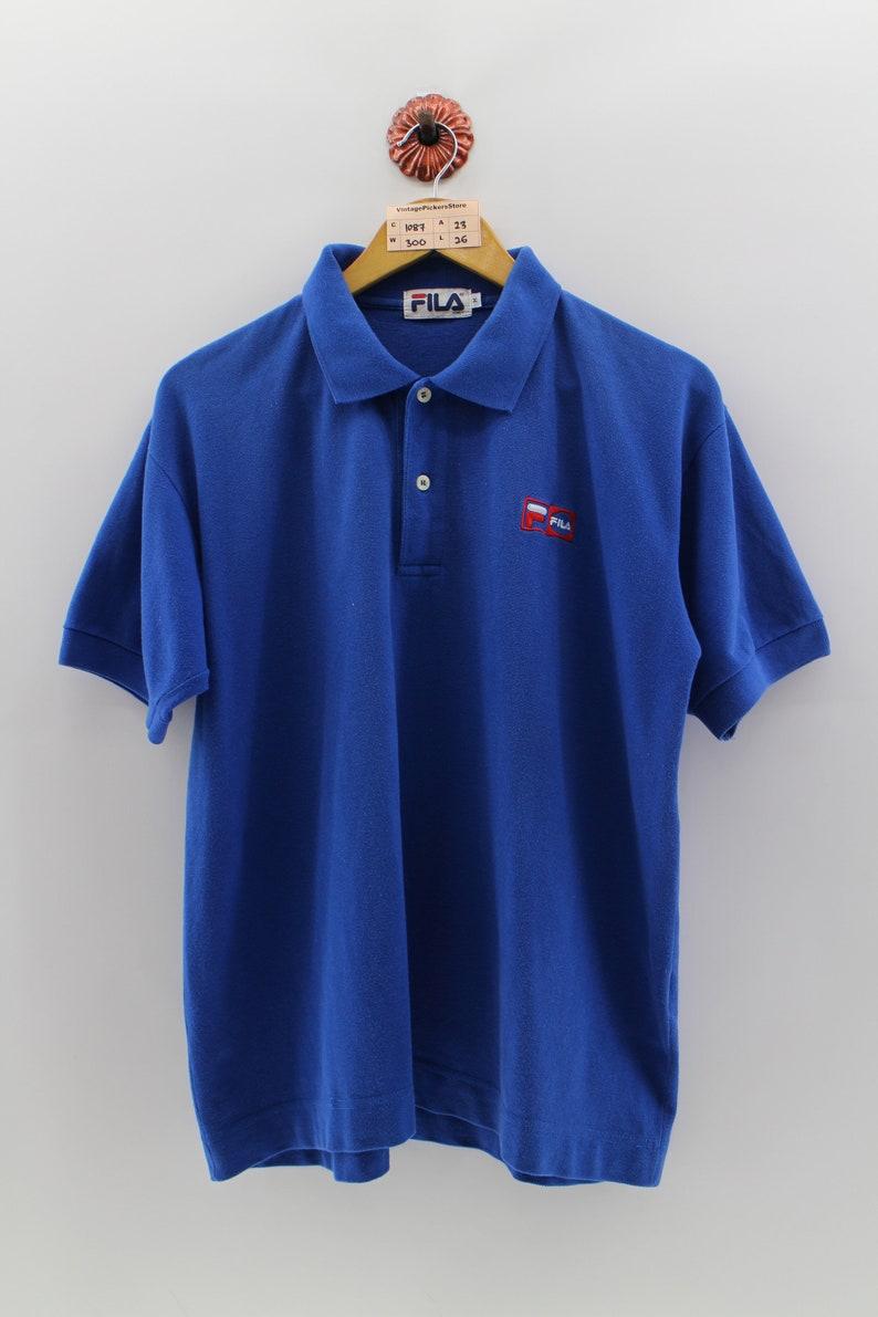 f39e6e166 FILA ITALIA Polo Blue Shirt Men Medium Vintage 1990s Biella | Etsy