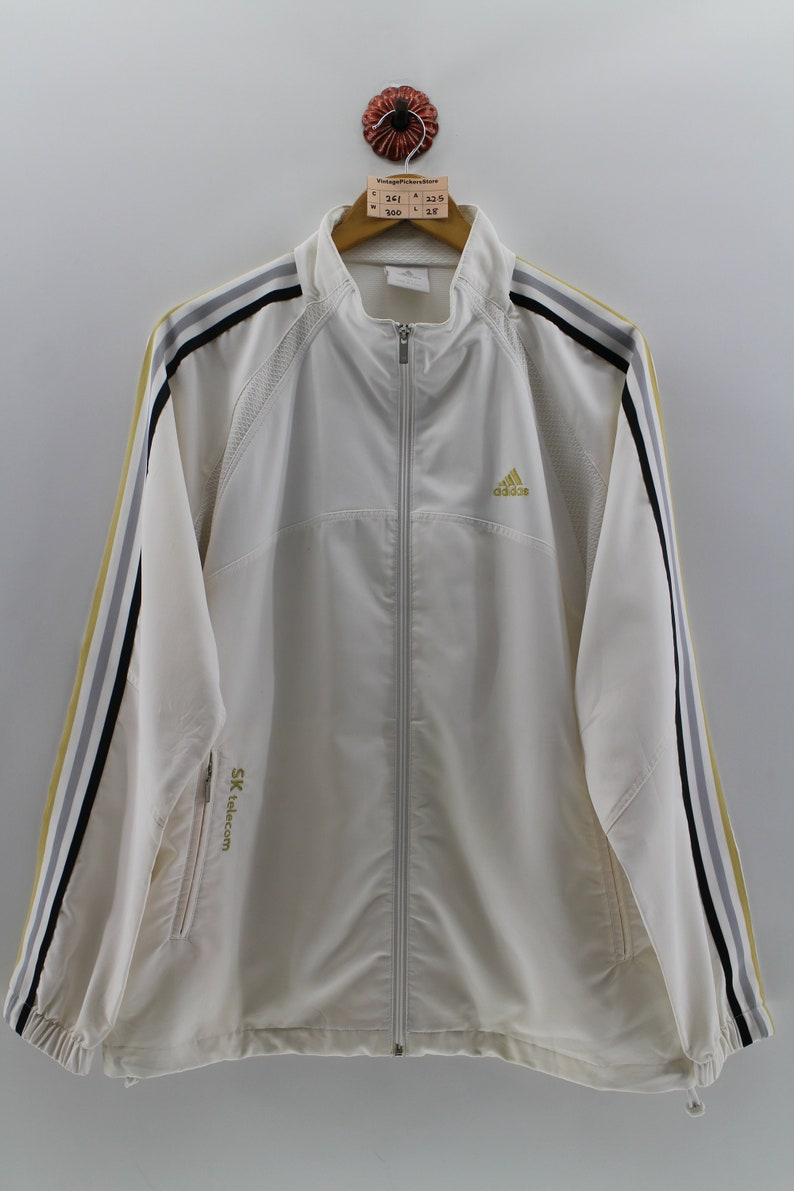97a8f07e3ffb Vintage 90s ADIDAS Jacket Track Top Large Unisex Adidas