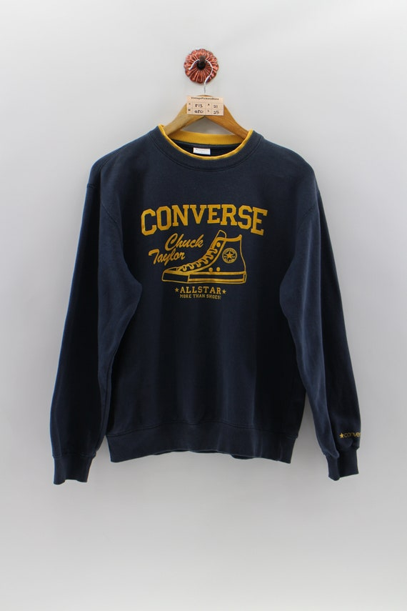CONVERSE All Star Unisex Pullover Sweatshirt Medium Vintage  c63f40e572