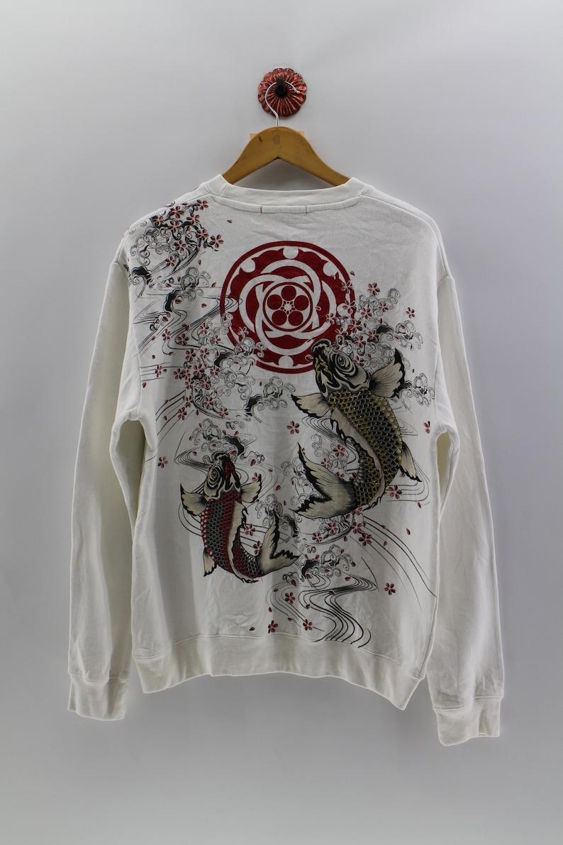 dd1921b6 SUKAJAN Fish Koi Pullover Sweatshirt Unisex Large Sujakan | Etsy