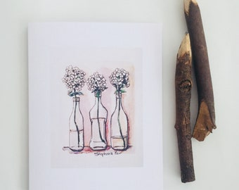Greeting cards Crafted by Stephanie Heo. Blank card made by Toronto artist Canadian artist.