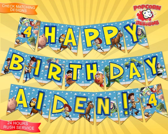 Toy Story Banner Digital Printable Birthday Party