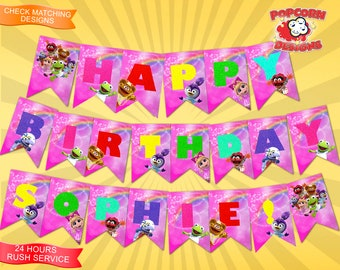 Muppet Babies, Banner, Digital, Printable, Birthday, Party, Decorations, Decor, Editable, Muppets, Garland, Designs, DIY, Set, Bunting