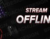 PC Desk Twitch Offline Screen