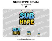 SUB / Subscriber HYPE Emote for Twitch, Discord or Youtube