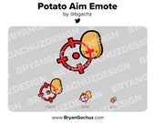 Potato Aim Emote for Twitch, Discord or Youtube