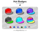 Snapback Hat Subscriber - Loyalty - Bit Badges for Twitch, Discord or Youtube