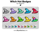 Witch Hat Subscriber - Loyalty - Bit Badges for Twitch, Discord or Youtube | Halloween