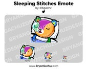 Animal Crossing Sleeping Stitches Emote for Twitch, Discord or Youtube