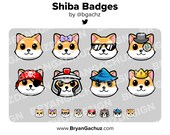 Shiba Dog Subscriber - Loyalty - Bit Badges for Twitch, Discord or Youtube