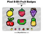 Pixel - 8-Bit Fruit Subscriber - Loyalty - Bit Badges - Channel Points for Twitch, Discord or Youtube