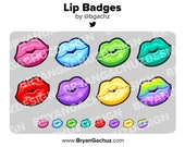Colorful Lip/Mouth Subscriber - Loyalty - Bit Badges for Twitch, Discord or Youtube