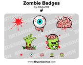 Zombie Subscriber - Loyalty - Bit Badges for Twitch, Discord or Youtube | Halloween