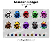 Assassin Subscriber - Loyalty - Bit Badges for Twitch, Discord or Youtube