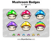 Mushroom Subscriber - Loyalty - Bit Badges for Twitch, Discord or Youtube