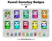 Kawaii Gameboy Subscriber - Loyalty - Bit Badges for Twitch, Discord or Youtube
