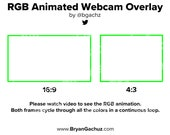 RGB Animated Webcam Overlay for Twitch (Animated)
