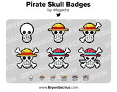 Pirate Skull Subscriber - Loyalty - Bit Badges for Twitch, Discord or Youtube