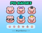 Pig Subscriber - Loyalty - Bit Badges for Twitch, Discord or Youtube