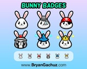 Bunny Subscriber - Loyalty - Bit Badges for Twitch, Discord or Youtube