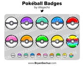 Colorful Pokeball Subscriber - Loyalty - Bit Badges for Twitch, Discord or Youtube
