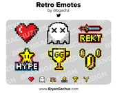 Retro Pixel 8bit Emotes for Twitch, Discord or Youtube