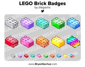 Colorful LEGO Brick Subscriber - Loyalty - Bit Badges for Twitch, Discord or Youtube