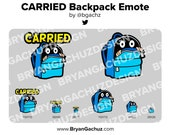 CARRIED Backpack Emote for Twitch, Discord or Youtube (2 Options)