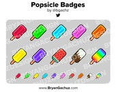 Popsicle Subscriber - Loyalty - Bit Badges - Channel Points for Twitch, Discord or Youtube