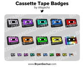 Colorful Cassette Tape Subscriber - Loyalty - Bit Badges for Twitch, Discord or Youtube