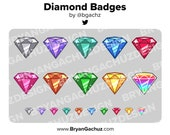 Diamond Subscriber - Loyalty - Bit Badges for Twitch, Discord or Youtube