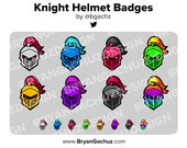 Knight Helmet Subscriber - Loyalty - Bit Badges for Twitch, Discord or Youtube