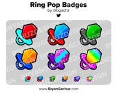 Ringpop Subscriber - Loyalty - Bit Badges for Twitch, Discord or Youtube