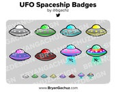 UFO Subscriber - Loyalty - Bit Badges for Twitch, Discord or Youtube