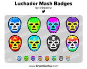 Luchador / Wrestling Mask Subscriber - Loyalty - Bit Badges for Twitch, Discord or Youtube