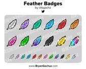Colorful Feather Subscriber - Loyalty - Bit Badges for Twitch, Discord or Youtube