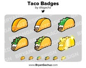 Taco Subscriber - Loyalty - Bit Badges for Twitch, Discord or Youtube