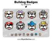 Bulldog Subscriber - Loyalty - Bit Badges for Twitch, Discord or Youtube