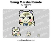 Animal Crossing SMUG Marshal Emote for Twitch, Discord or Youtube